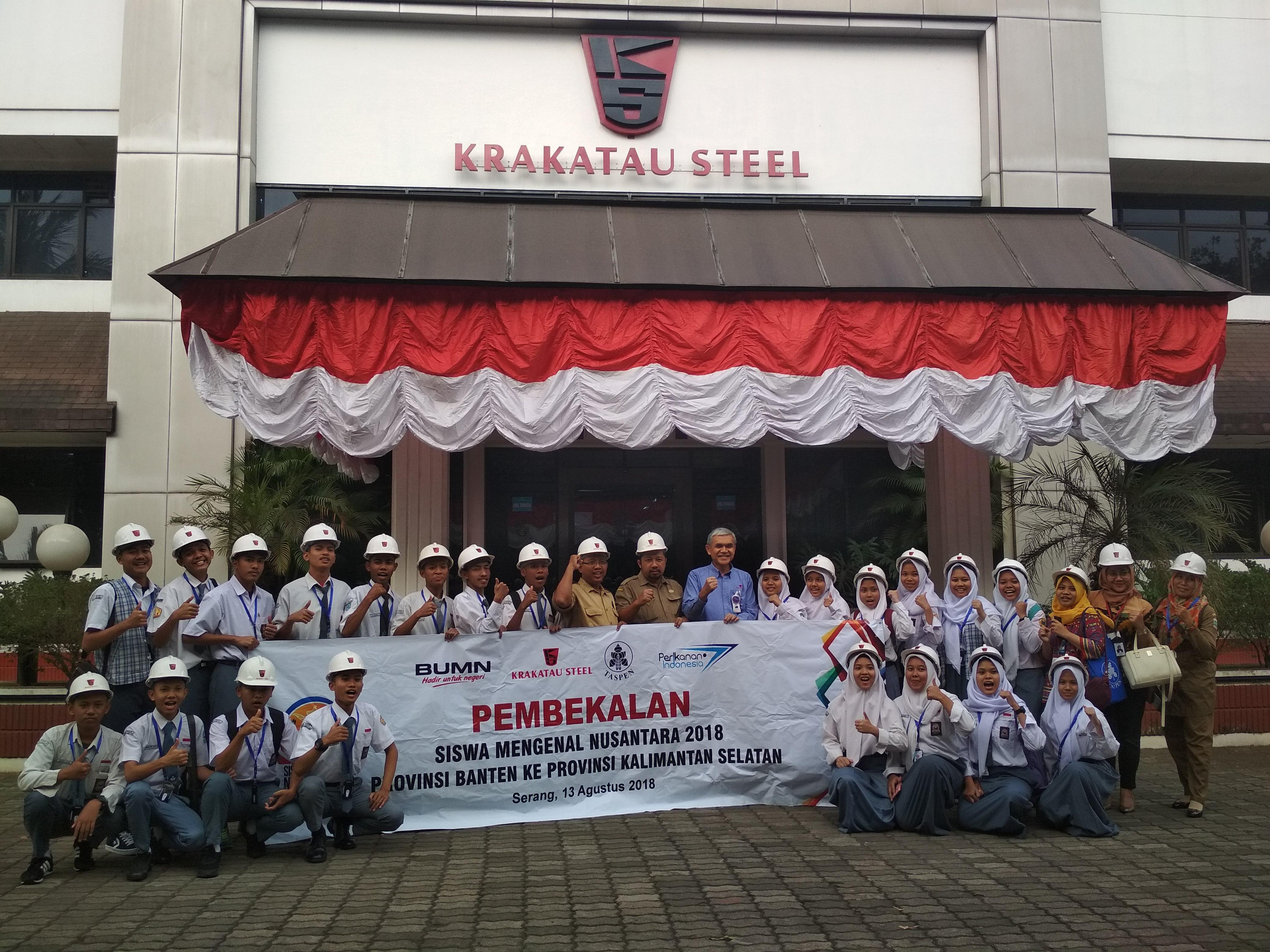 Delegasi Siswa Mengenal Nusantara Banten Diajak Keliling Pabrik Baja