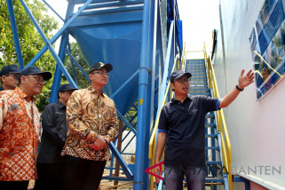 Dirut PT Krakatau Steel Tbk Resmikan Bendung Cipasauran