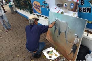 Sanoesi Seniman Lukis Banten Tak Kenal Lelah