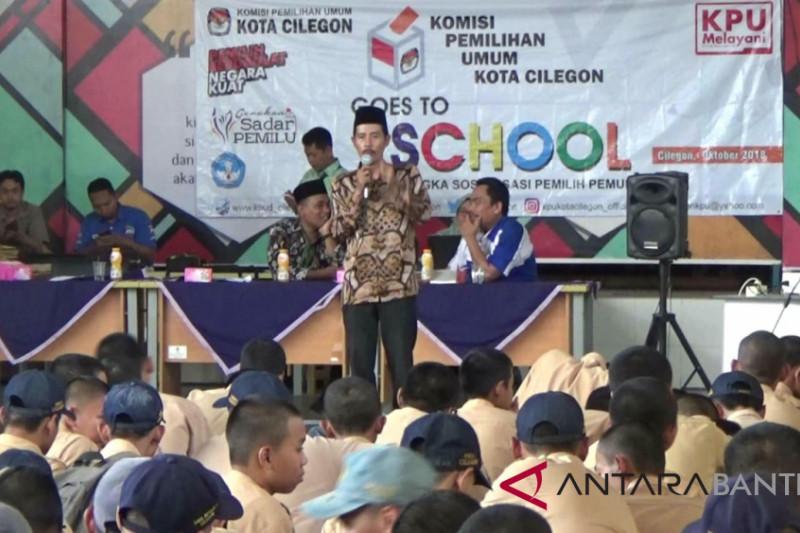 """KPU Cilegon Sosialisasi Pemilu Pada Pemilih Pemula Melalui  """"Goes to School"""""""
