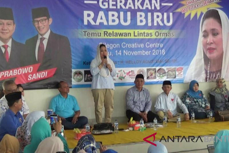Titiek Soehartao Optimistis Prabowo-Sandi Unggul Di Banten