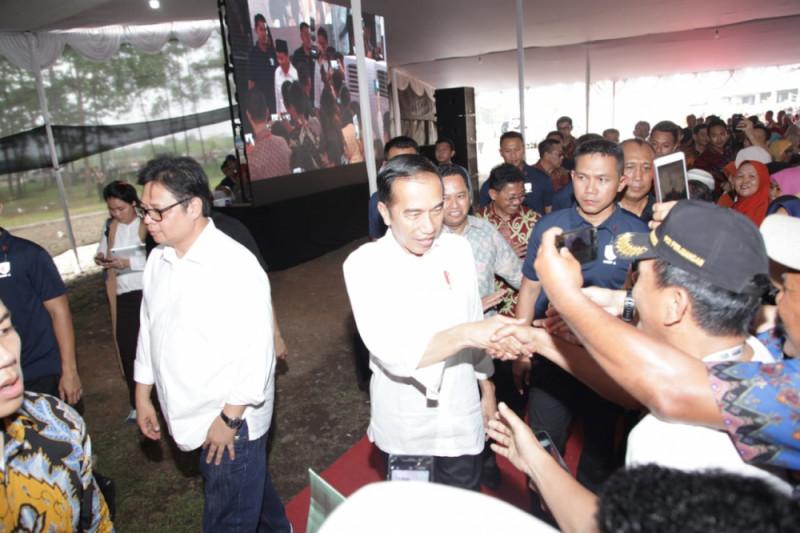 Jokowi Disambut Warga