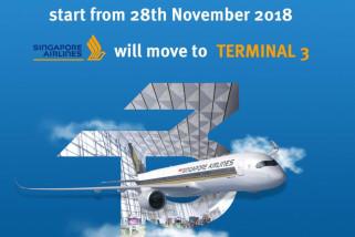 Singapore Airlines Pindah Ke Terminal 3 Mulai 28 November