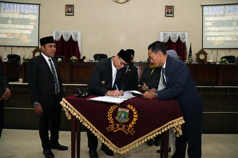 Gubernur:  Raperda Air Minum Maksimalkan Potensi Waduk