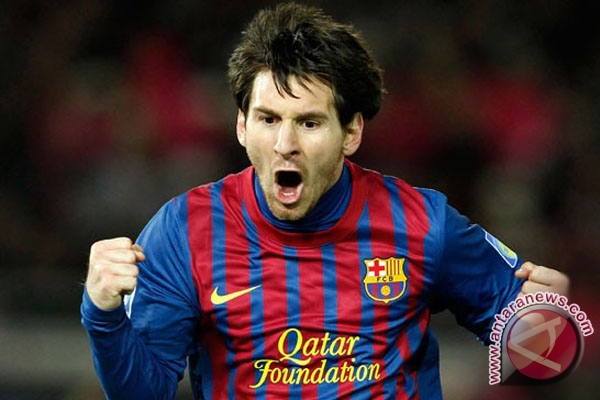 Pemain Barcelona Lionel Messi (FOTO REUTERS/Toru Hanai)