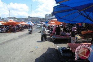 Aktivitas pasar tradisional di Bengkulu belum normal