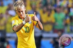 Brazil kalah dari Kolombia, Neymar dikartu merah