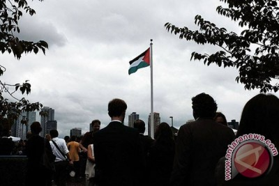 Rakyat Palestina rayakan pengibaran bendera meraka di PBB