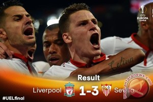 Kalahkan Liverpool, Sevilla juara Liga Europa tiga kali berturut