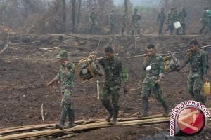 Korem 044/Garuda Dempo temukan cairan pemadat lahan gambut