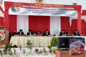DPRD Mukomuko gelar paripurna dengar pidato presiden