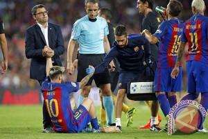 Messi cedera saat Barca ditahan imbang Atletico