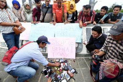 Jurnalis Bengkulu Deklarasikan Antiberita Bohong