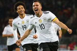 Podolski Tutup Karier Dengan Cetak Gol Penentu Kemenangan Jerman vs Inggris