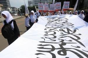 "Polisi Antisipasi Penggunaan Atribut HTI Aksi ""278"""