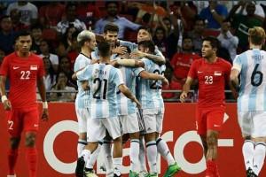 Argentina Menang 6-0 Atas Singapura