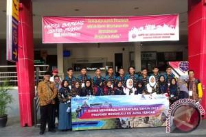 Peserta Siswa Mengenal Nusantara Bengkulu Menuju Jawa Tengah