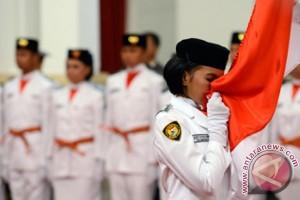Presiden Kukuhkan Paskibraka HUT Ke-72 RI