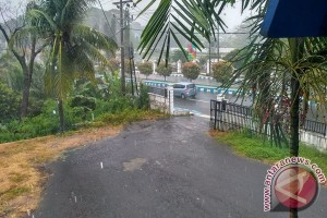 Hujan Lebat Mengguyur Kota Bengkulu