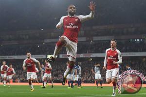 Lacazette Cetak Dua Gol Saat Arsenal Taklukkan West Brom