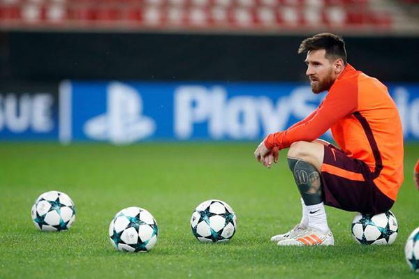 Lionel Messi terus asah akurasi tendangan penalti