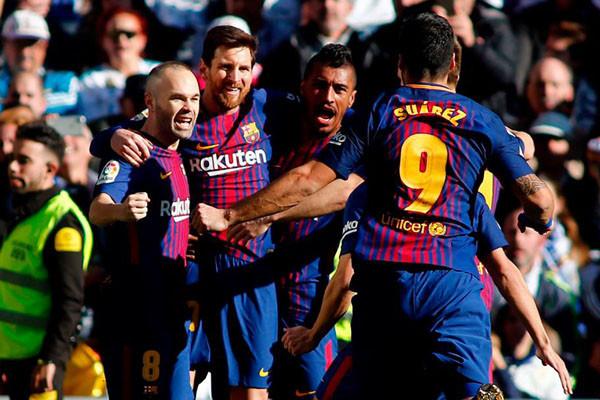 Suarez dan Alba pastikan kemenangan Barca di markas Eibar