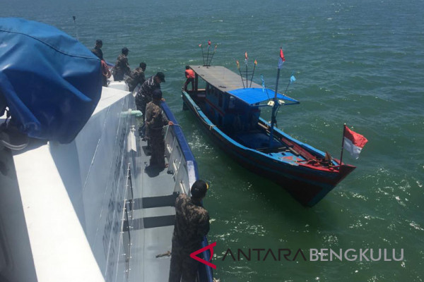 Tim PSDKP sita trawl nelayan Bengkulu
