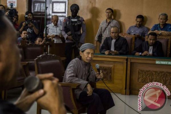 Suara ledakan saat sidang pledoi Aman Abdurahman