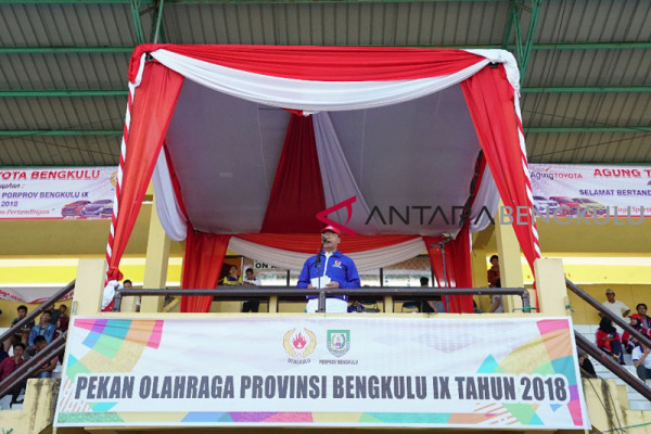 Porprov Bengkulu lombakan 14 cabang olahraga