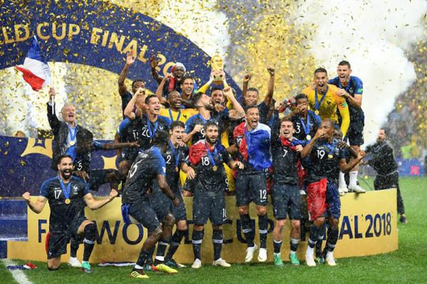 Prancis juarai Piala Dunia untuk kedua kali