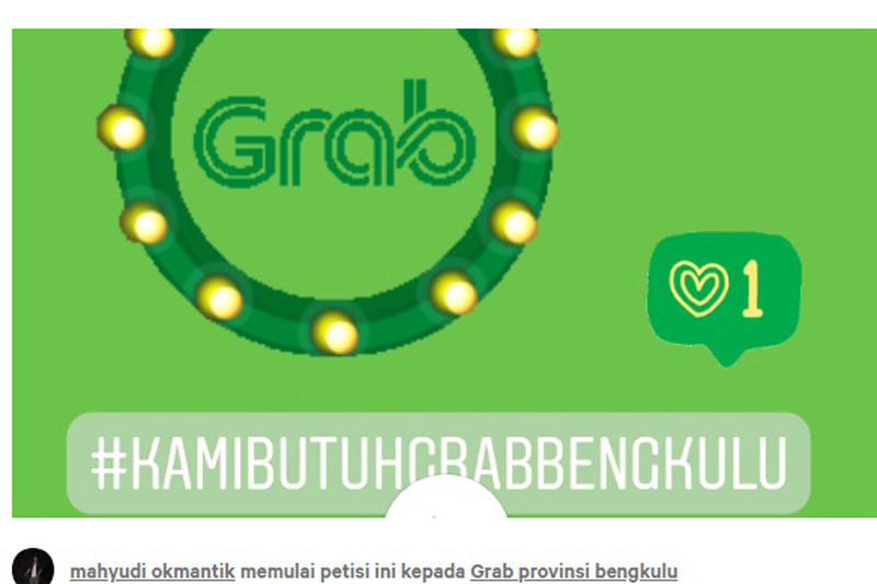 Mitra sayangkan pembekuan Grab Bengkulu