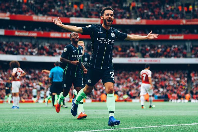 City tampil impresif saat kalahkan Arsenal di Emirates