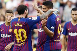 Messi cetak gol ke-400 saat Barcelona lumat Eibar