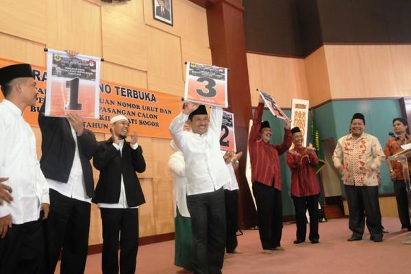 Empat calon Bupati Bogor dapat nomor urut