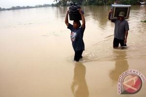 Sawahnya Terendam Banjir, Petani Karawang Rugi