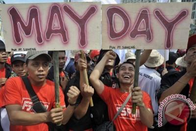 Polresta Bekasi Pusatkan May Day Di Alun-Alun