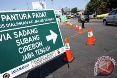 Dishub Bekasi Pasang 50 Rambu Portabel Mudik