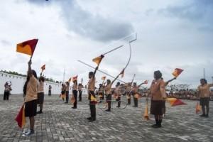 Pramuka Kwarcab Bogor Bangun Jembatan Desa Terisolasi