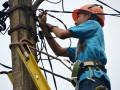 Petugas lapangan PLN Kota Bogor, Jawa Barat sedang memperbaiki kerusakan jaringan aliran listrik yang rusak, atas pengaduan masyarakat, di Kelurahan Mentang Asri, Kec.Bogor Barat, Kota Bogor, Jawa Barat. (ANTARA FOTO/M.Tohamaksun).