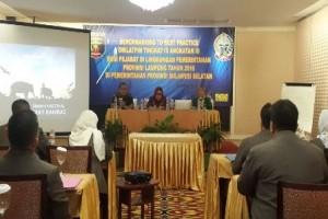 Peserta Diklatpim Lampung Gelar Seminar Di Makassar