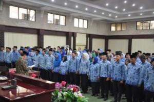 Sumpah Jabatan 150 PNS Pemerintah Provinsi Lampung