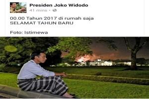 Presiden Jokowi Rayakan Tahun Baru Di Rumah Saja