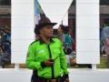 Seorang polisi taman (Park Ranger) mengenakan topi koboi sedang berjaga dan mengawasi aktivitas warga di Taman Sempur, Kota Bogor, Jawa Barat, Minggu (5/2). Polisi taman yang pertama di Jawa Barat dan Indonesia tersebut bertugas menjaga taman di Kota Bogor dengan menegakkan disiplin masyarakat saat beraktivitas di taman, tidak merusak dan mencegah vandalisme. (ANTARA FOTO/Arif Firmansyah/17).