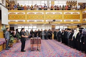 Gubernur Lampung M.Ridho Ricardo Melantik Ratusan Pejabat Baru