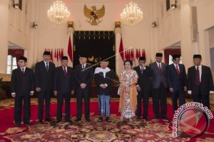 The Inauguration of the Steering Committee and the Chief of the Presidential Working Unit for the Building Up of the Pancasila Ideology