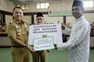 Gerakan Zakat Daerah Lampung Menyasar Potensi Rp1,8 Triliun