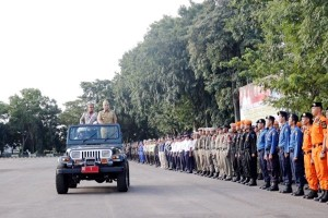 Apel Pasukan Lampung Siap Hadapi Arus Mudik Lebaran
