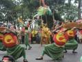 Salah satu penampilan kesenian dari sanggar seni yang ikut memeriahkan gelaran 'Helaran' dalam rangka memperingati 'Hari Jadi Bogor ke 535' di Kota Bogor, Jawa Barat. (Foto Humas Pemkot Bogor).