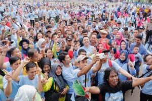 Senam Germas Lampung Meraih Rekor MURI Peserta Sosialisasi Terbanyak