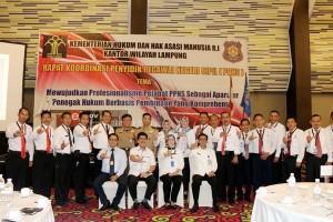 Rakor Penyidik Pegawai Negeri Sipil Instansi Pusat Dan Daerah Di Lampung
